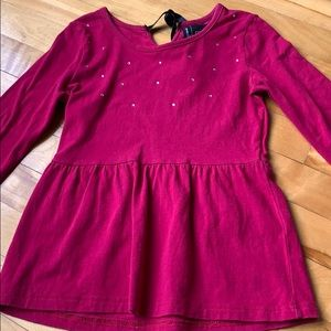 (4 for $20) Pink Top with Rhinestones